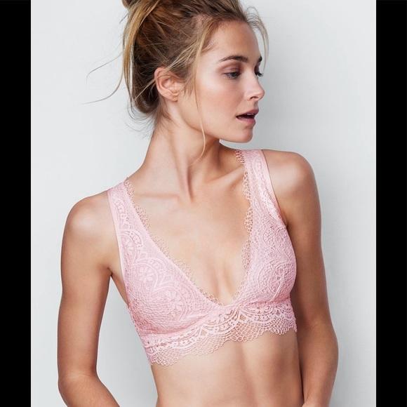 c291475337833 1 NWT Victoria s Secret Long Line Plunge Bralette